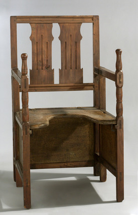 Folding parturition chair, German, 1780-1850.