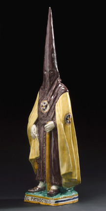 Ceramic statue of Spanish Inquisitor, Spanish, 1860-1935.