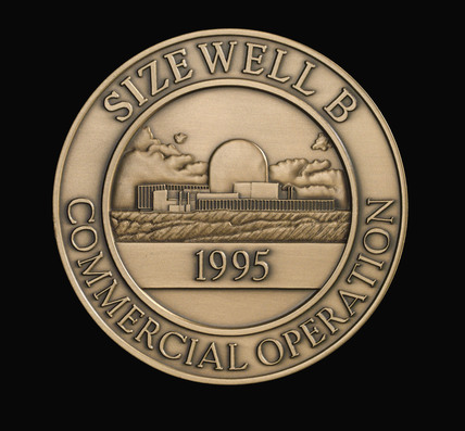 Medal commemorating the inauguration of 'Sizewell B', 1995.