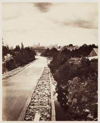 'Timber Slide Ottawa', 1860.