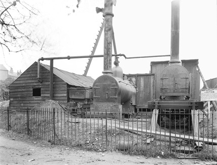 Pumping plant at Eccles, Greater Manchester, 9 October 1924.