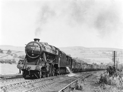 Goods train at Shap, 1945