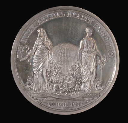 Medal commemorating the International Health Exhibition, 1884.