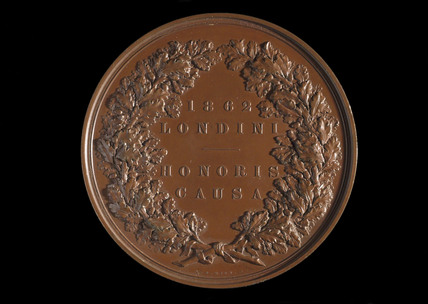 Medal awarded to Ludwig and Henry oertling, 1862.