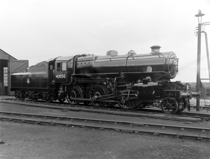 Ivatt 4MT locomotive of the BR 43050 class, Doncaster, 11th July 1950.
