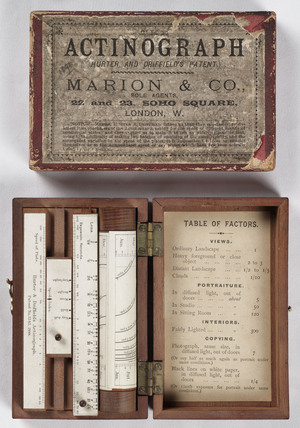 Hurter & Driffield Actinograph Exposure Calculator, 1888