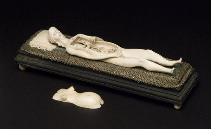 Ivory anatomical figure, 17th-18th century.
