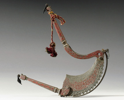 Steel betel nut cutter, Indian, 19th century.