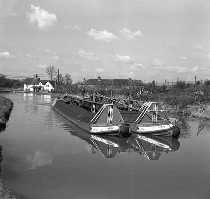 Ovaltine boats at Winkwell, Hertfordshire, 1950.