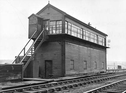 Signal box, Wigan North West Junction, c 1940.
