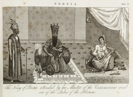 The King and Queen of Persia, c 1810-1829.