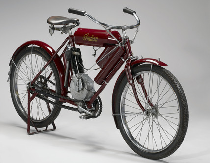 'Indian' motor cycle, c 1905.