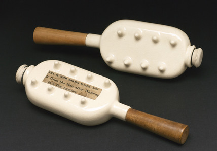 Stoneware hair driers, 1880-1900.
