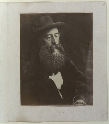 'G F Watts with hat', 1864.