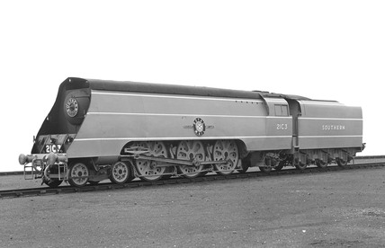 'Southern Railway Locomotive No 21C3, Merchant Navy Class, 'Royal Mail'.