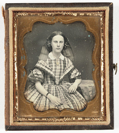 Portrait of a young woman, c 1860.
