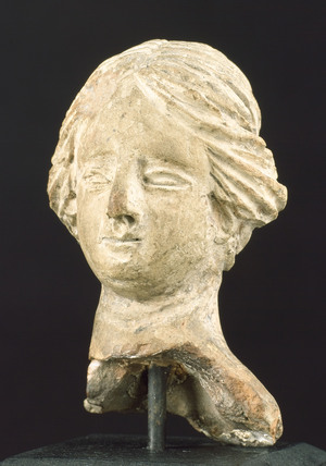 Terracotta head, Greece, 200 BC-1 BC.
