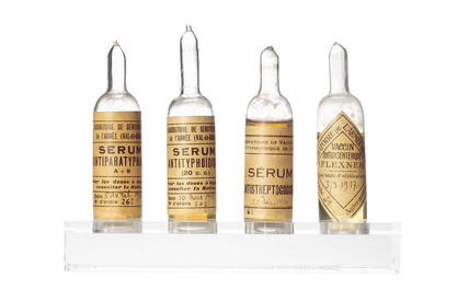 Ampoules of vaccine, 1915.