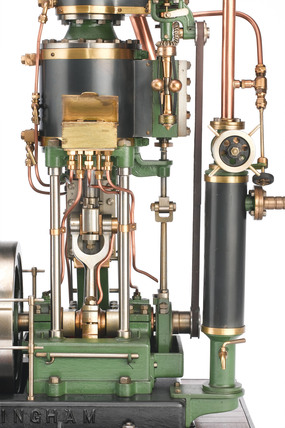 Model of a steam engine and dynamo, 1890-1900.
