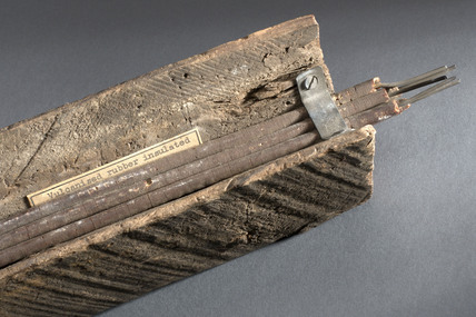 Section of London-to-Liverpool telegraph cable, 1853.