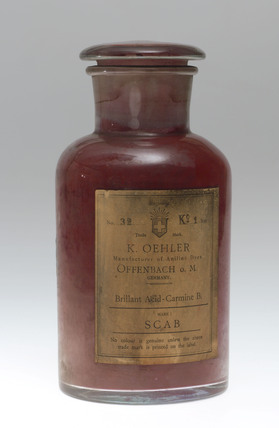 Synthetic red colorant, c 1900.
