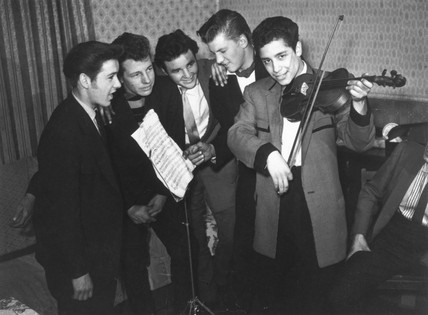 Teddy Boy musicians, 11 April 1958.