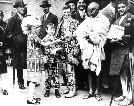 Mahatma Gandhi in London, 1931.