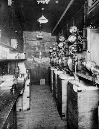 Printing room at Kinemacolor House, Wardour Street, Soho, London, c 1910s.