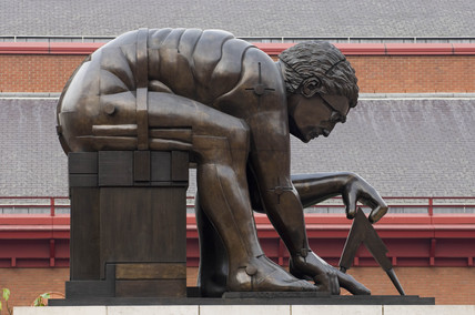 'Newton' sculpture, British Library, London, 1995, (2006).