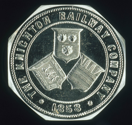 Seal die, Knighton Railway Co, 1858.