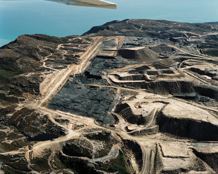 Stockton opencast coal mine, New Zealand, 1998.
