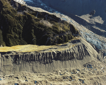 Tasman Glacier, New Zealand, April 1986.