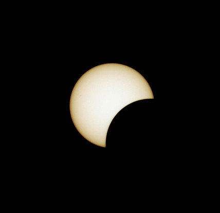 Partial stage of the total eclipse of the Sun, Turkey, 29 March 2006.