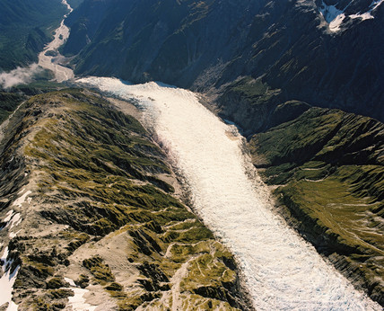 Fox Glacier, westland national park. New Zealand, 1989.