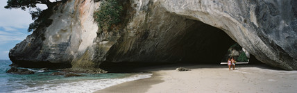 cathedral cove, New Zealand, 1990.