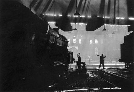 'Achilles' steam locomotive, Holbeck shed, Leeds, early 1960s.