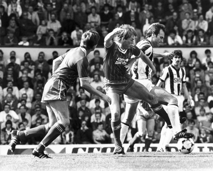 Liverpool v West Bromwich Albion, 28 August 1982.