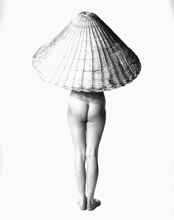 'Nude with Wicker Basket on Head', 3 May 1955.
