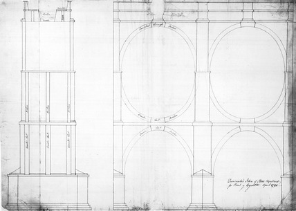 'John Duncombe's idea of stone aqueduct for Pont y Cysilte, April 1794.'