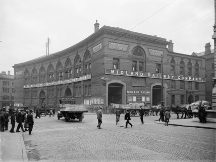 Goods Depot at Liverpool Victoria Station, 1922