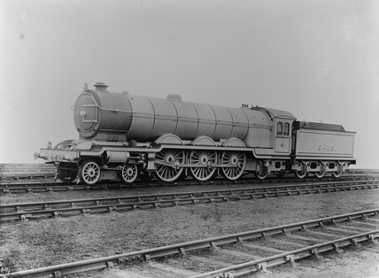 Three quarter view of a engine no. 2402 class A. Darlington, England.