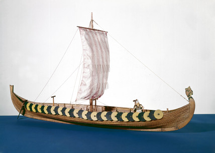 Viking ship, c 900.