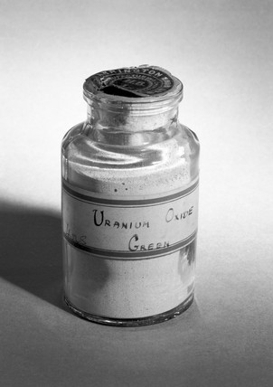 Uranium oxide supplied by Harrington Bros.
