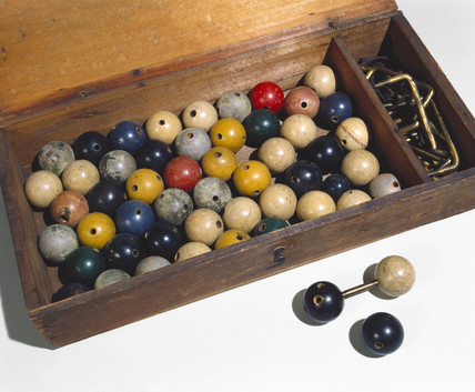 A pioneering ball and stick atomic model set, 1860s.