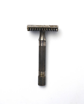Gillette safety razor, patented 1931.
