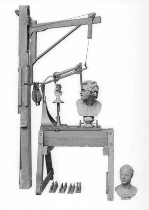 Machine for reproducing sculpture, 1826.