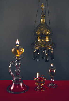 Floating wick lamp from a mosque, c c18th century.
