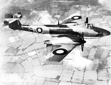 Gloster Meteor F3 EE227, c 1940s.