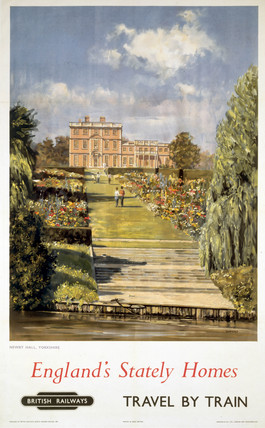 'England's Stately Homes - Newby Hall, Yorkshire, BR poster, 1956.