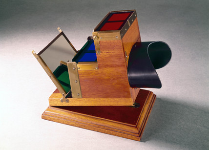 Ives stereoscopic Kromscop viewer, c 1890.